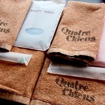 バスタオル、タオル、歯ブラシをご用意しています