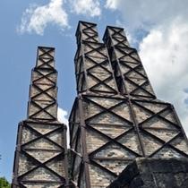 2015年世界文化遺産登録された「明治日本の産業革命遺産」韮山反射炉。ワンちゃんは抱っこでOK☆