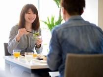 思い出語りながらの朝食は楽しい一日の始まり♪