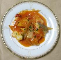 鱈と野菜のトマトソース煮