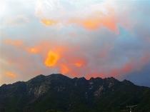 コテージから見た夕日