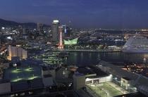 屋上足湯からの夜景
