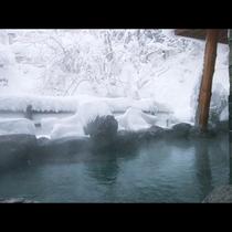 冬の露天風呂 雪景色とともにお楽しみください