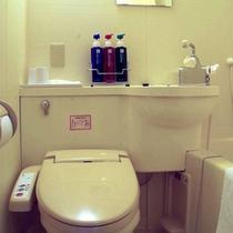 シャワー式トイレが付いたユニットバス