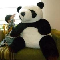 ロビーでパンダ(ウエンウエン)がお出迎え♪