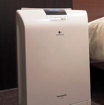 全室、加湿機能付空気清浄機完備