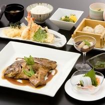 荒炊き・天ぷらディナー(料理一例)