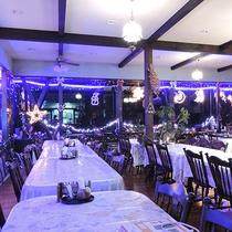 *【食堂】クリスマスにはちょっとロマンティックな雰囲気に♪