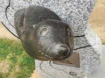【梅小路公園】お隣の京都水族館にちなんだモニュメントがそこかしこに。