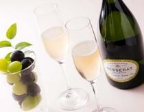 シャンパン&フルーツ