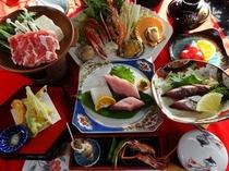 【みさき会席】四万十ポークすき焼きと海鮮鍋