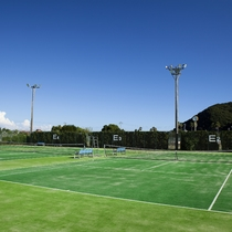 【ホテル周辺】サントピアマリーナのテニスコート