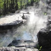 【定山渓源泉公園】-開祖「美泉定山の像」のほか「足湯」を楽しむ-