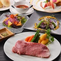 【シェフおまかせ伊賀牛Aコース】伊賀牛ステーキがたっぷり160gついた贅沢コース