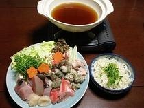 白浜の魚介鍋