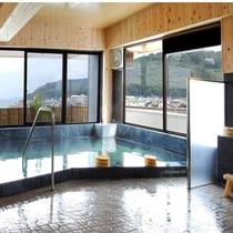 4階展望風呂からは有明海が一望