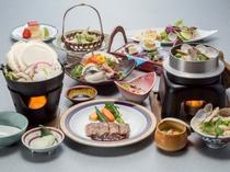 1泊2食付「楽コース」料理一例2016年春