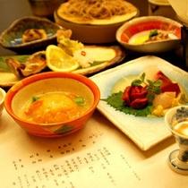 夕食全体(一例)