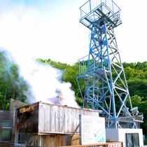 *周辺/温泉たまご作り体験ができる噴湯公園の源泉やぐらまで当館から徒歩5分です!
