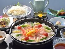夏季限定プラン和食夕食コース<鱧と有田鶏のあっさりシャブシャブ>