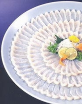 ふぐ料理(てっさ大皿盛り)