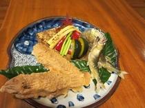 天然鮎料理