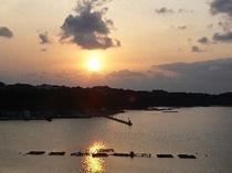 大浴場 露天風呂から見る夕陽