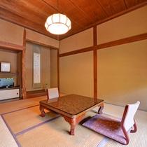 *松の間/多摩川から少し離れたお部屋ではございますが、ごゆっくりお寛ぎいただけます。
