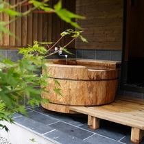栂の木 丸太風呂