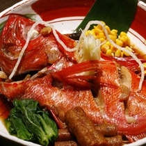 【料理】夕食 金目の煮付 別注