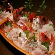 【料理】夕食 舟盛 一例