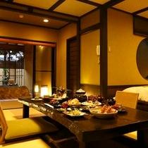 【料理】夕食一例(客室 松籟にて)