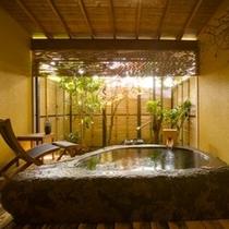 巨石露天風呂