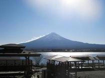 コテージ戸沢センターから眺めた富士山