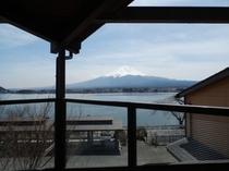 13人用B型2階和室から眺めた富士山
