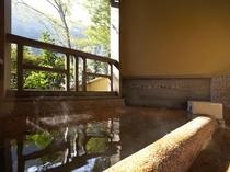山の夕 露天風呂