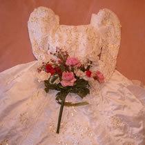 ウェディングドレスで・・