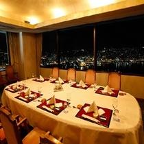 最上階レストラン半個室