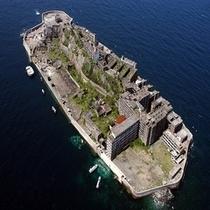 世界遺産登録された軍艦島