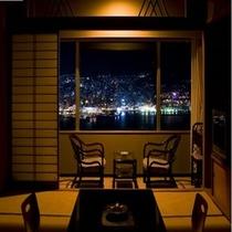 和室12畳からの夜景