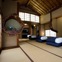 男性専用ドミトリーは元お茶室。本格建築のこだわり部屋。