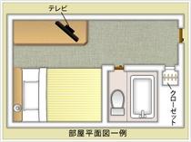 シングルルーム平面図