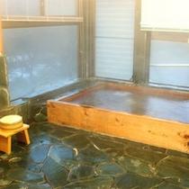 *【大浴場】山のミネラル豊富な湧き水を沸かした内風呂。