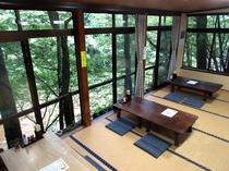 *【お食事処】川のせせらぎを聞きながら、新潟の田舎料理をお楽しみください。