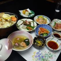 *ご夕食は海の幸、山の幸を使った料理をご用意いたします