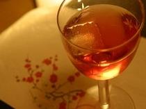 甘い果実酒で乾杯♪