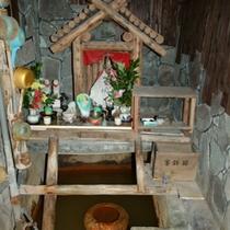 白鷺源泉飲泉所場/直下より湧き出る白鷺源泉をその場で飲むことができます。