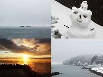 北陸の冬景色。夏とは違う情緒あるしっとりとした風景をお部屋から。