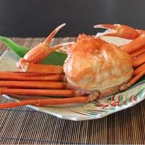 甘い紅ずわい蟹を。