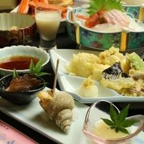 前菜&鱧の天ぷら